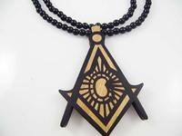4H553 Min order 7usd Fashion natual wood hiphop necklace Japanese harajuku street New fashion jewelry cutout wood necklace