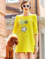 Europe new fashion Loose dress women slim lace half sleeve women's dresses S/M/L/XL dropshipping AG6726LS