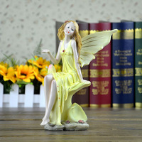 European household decoration wedding gifts beautiful angel girl resin ornaments resin material