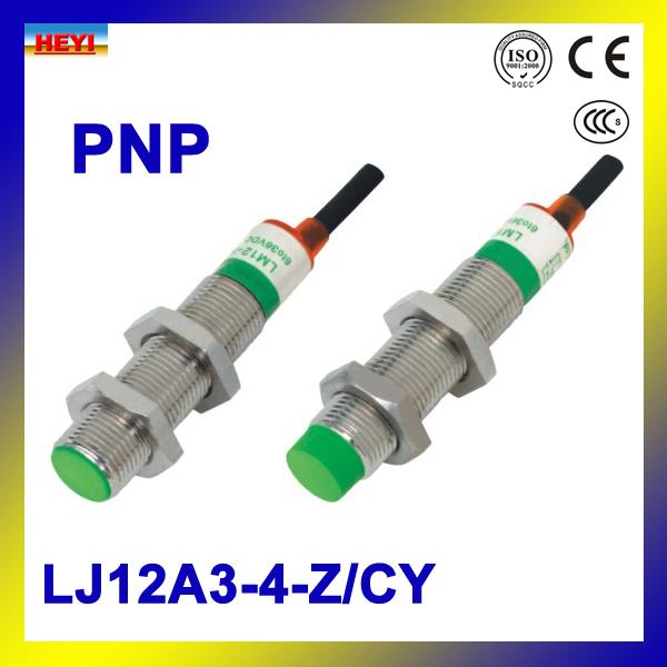 4-wire inductive proximity sensor 5pcs/LOT LJ12A3-4-Z/CY PNP proximity switch NO+NC(China (Mainland))