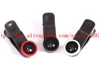 Universal 3in1 clip mobile phone camera Wide Angle  superfine 180 degree fisheye external camera phone
