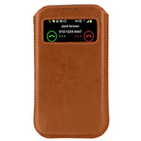 New Case For lenovo A660 For lenovo K2 View Window Pouch Mobile Phone PU Leather Bag Cover Bags Cases