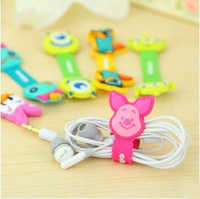 Wholesale Free shipping New Arrvial Silicone cartoon monster Earphone Cord Wrap Cable Winders/Organizer/Holder for MP3/MP4(A709)