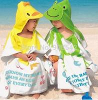 New 1pcs retail ,100% cotton baby beach gown/ Child bathrobe ,beach towels, baby cloak cape, baby bath towel,child bathrobes