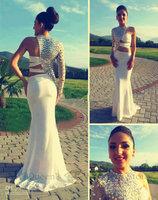 free shipping robe de soiree 2014 new fashion vestido de festa hot sexy luxury crystal one shoulder Formal long evening dresses