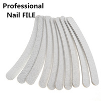 Free shipping Professional Nail File Buffer Buffing Tools Crescent Grit Sandpaper Tool 10pcs/set Manicure Nail Tool