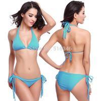 Hot 11 color bikinis set Factory Direct 2014 new hot sexy bikini beach swimsuit vintage swimwear women high waist bikini