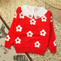 Girls flowear sweater coat child long-sleeved plum girls turtleneck sweater pullovers girls wear 2014 new children's clothing