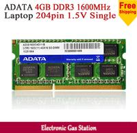 ADATA DDR3 1600MHz Single 2GB/4GB 204pin 1.5V Laptop RAM Memory