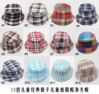 1pcs Hot sale travel outside children boy cap hat summer 12 designs hat canvas sun hat baby Bucket hat Free Shipping