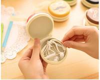 20 pieces Mustache beard Round Mini Coin Bag Key Earphone Storage Change Purse Small Wallet Tinplate Coin Bag