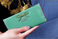 Women's Clutch 2014 new Fashion  women Fold wallet Long Bow wallet women wallets purse female Card Pack