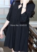 2014 Autumn Korean version of maternity fashion loose cotton dress for pregnant women pregnant women pregnant women dress shirt