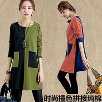2014 autumn hot mom Maternity Dress Korean fashion loose long-sleeved T-shirt cotton pregnant women skirt
