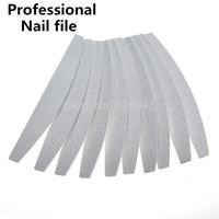 Free shipping 10pcs /lot Hot Sale Professional Nail Files Buffer Buffing Slim Crescent Grit Sandpaper