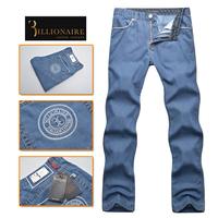 Billionaire italian couture men's clothing jeans 2014 100% male big cotton denim