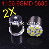 2014 new style 2 pcs 1156 P21W 5630 LED 9 SMD R10W turn signal steering lamp reversing back up light white blue