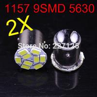 2014 new style 2 pcs 1157 P21W 5630 LED 9 SMD R10W turn signal steering lamp reversing back up light white blue