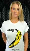THE VELVET UNDERGROUND Banana Print Tshirt For Men Women Short Sleeve Cotton Casual White Shirt Top Tee S-XXXL Big Size ZY125-91