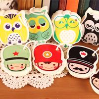 Free shipping 5pcs/lot Fashion and Lovely ring shaped memo pad, cartoon memo pad, stationery shape note pad