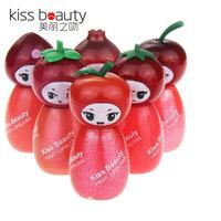 Kiss Beauty  Waterproof  Colorful little princess kibosh Sexy Lipstick lip gloss nourishing frozen lips lip balm 7 full set