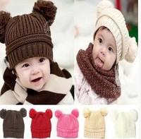New 2014 Autumn Winter Cute Baby Winter Knitted Warm Cap Boy Lovely Beanie Girls' Hats For Children Accessories