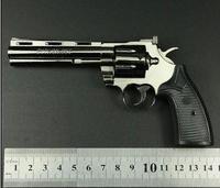 1/2.5 metal high simulation handgun Colt Python 357 revolver gun police toy pistol gun model