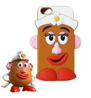 3D Cute Lovely Cartoon Mr Potato Egg Head Daddy Rubber Silicone phone case cover for iphone 4S/5S 515-026