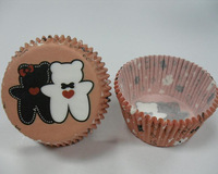 2014 New 1000pcs 5*3cm Bear Lovers Cupcake Liners Baking Paper Cups Cake Muffin Molds Holders Greaseproof Wedding Decoration