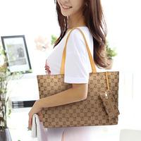2014 hot Casual women's handbag stripe canvas bag chain hangings handbag fashion bag Brand designer women shoulder bags