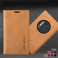 Genuine Leather Luxury Flip Wallet Case For Nokia Lumia 1020 With Satnd Holder Protective Phone Holster Case Cover Free Shipping