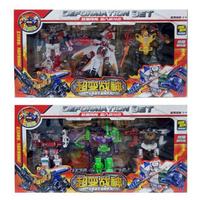 Boy Flexible Emulational Optimus Prime & Bumblebee Toy Figure Autobots Transformation Series Robot Toys Set Kids WJ027