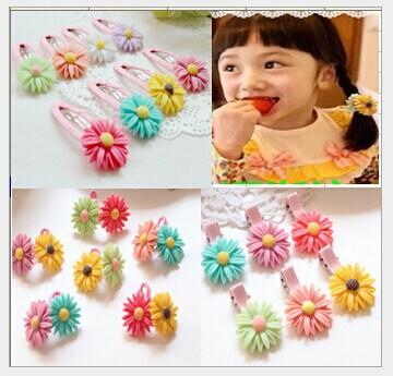 Korean children's hair accessories baby girls Daisy BB clip hairpin edge clip daisy(China (Mainland))