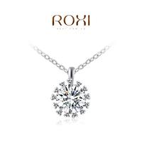Wholesale ROXI Brand Fashion Accessories Jewelry Austria Crystal Big Hearts and Arrows CZ Diamond Pendant Necklace for Women