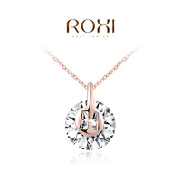 ROXI classic necklace Genuine Austrian Crystals rose gold plated necklaces for women birthday gift 2014 autumn new design