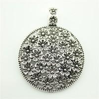 5pcs/lot   flowers charms antique silver tone flowers Pendant