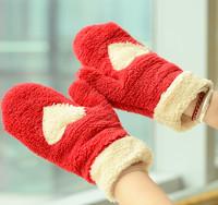 1pcs 2014 New Fashion Winter Arm Warmer Fingerless Gloves Knitted Fur Trim Gloves Mitten Free Shipping