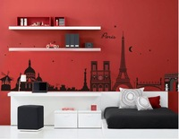 New vinyl wall sticker for kids rooms home decor decals adesivos de parede stickers Eiffel Tower