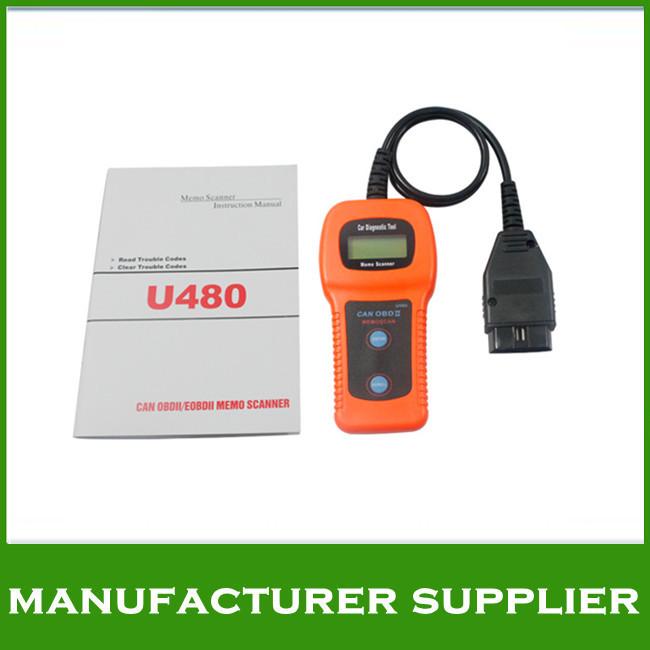 2014 Top quality U480 OBD2 CAN BUS&Engine Code Reader U480 Code Reader Scanner for VW,AU-D1 U480 Scanner(China (Mainland))