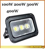 outdoor led flood light 100w 200w 300w 400w waterproof IP65 85-265v high power led floodlight energy saving free shipping