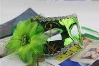 Hot Selling 20pcs !!! (6 Colors )Wedding Party Masks Halloween Christmas Mask Venetian Wrapped side flower mask masquerade masks