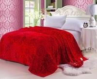 200*230cm super soft fleece blanket summer autumn blankets quilt for full queen bed fashion textile