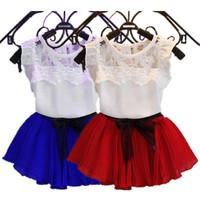1 Sets Retail Girls Frozen Princess Elsa Dress + T shirt 2 Pcs Set Layered Tutu Dress Sets Frozen Clothing Sets, frozen sets