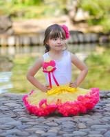new fantistic style girls nylon petti skirt kids charming yellow children vintage fashion clothing manufacturers china