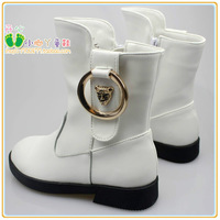 New Arrival Free Shipping Girl's Autumn single boots Female Child Medium-leg Genuine Leather Martin shoes 26-36