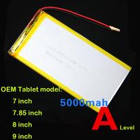 Lithium Polymer Batteries 3.7V 5000Mah Rechargeable Tablets Battery For Onda Tablets V811 / V812 / 813 etc
