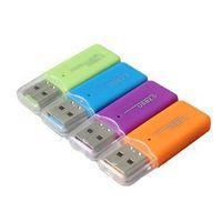 100% New Brand All in 1 Card Reader 4pcs Random Color mini Micro SD TF multi Memory Card Reader USB 2.0 TransFlash