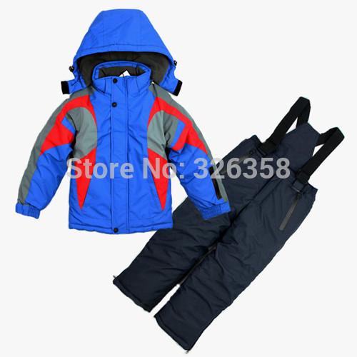 2015 new baby boys winter jacket +pants clothing set /kids Ski suits snowboard wear/children windproof warm Outerwear coats(China (Mainland))