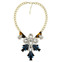 B2209 NEW 2014 J C design Unique costume chocker chunky collar crystal necklace & pendant chunky collar necklace for women