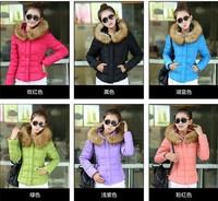 2015 Fashion 6Colors Parkas Winter Female Down Jacket Women Clothing Winter Coat Color Overcoat Women Jacket Parkas
